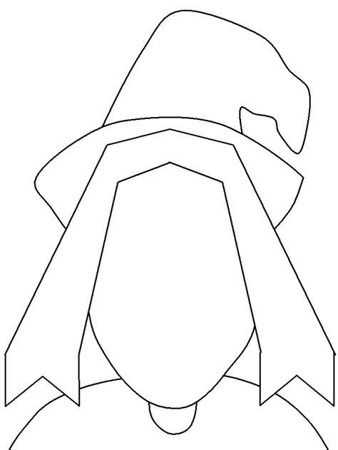 Witch Template free witches macbeth coloring pages