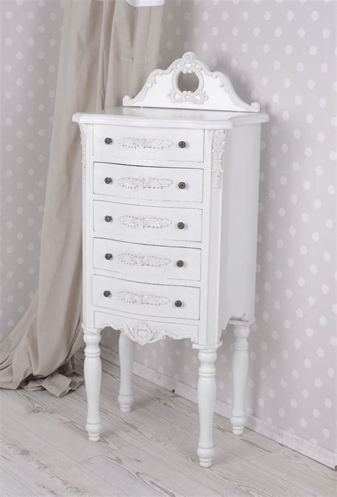 kommode shabby chic vintage chest of drawers shabby chic tower kommode white