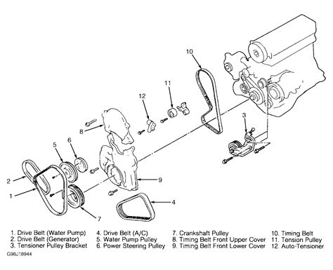 how to change alternator belt mitsubishi eclipse 00 05 2003 mitsubishi eclipse serpentine belt routing and timing belt diagrams