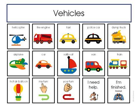 Education Card Transportation 30 best communication for autism education teaching ideas for building communication images