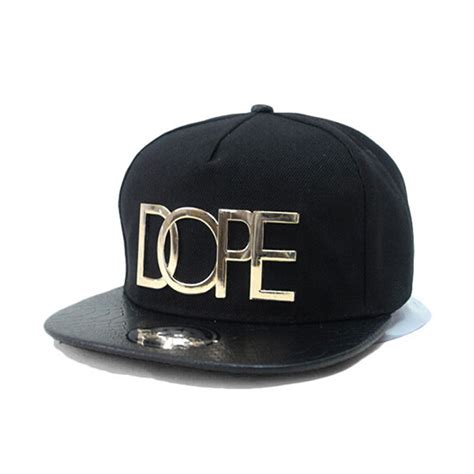 cool adjustable snapback hiphop baseball cap hat black