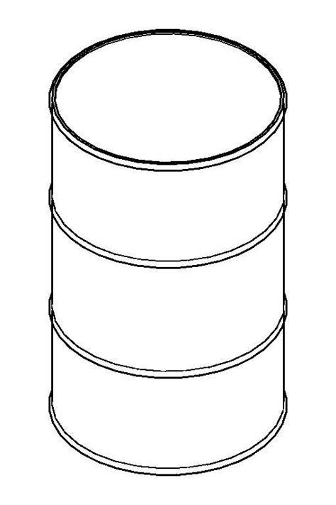 Building Sketch Online revitcity com object drum 55 gallon