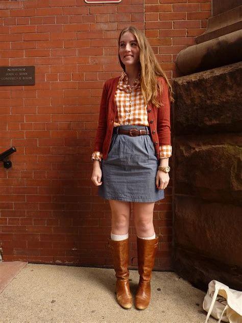denim skirt  boots fashion skirts