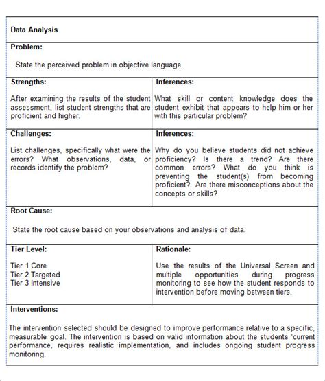 assessment analysis template data analysis report templates 5 free pdf word