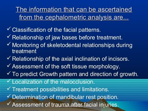 pattern classification for finding facial growth abnormalities diagnostic records certified fixed orthodontic courses by