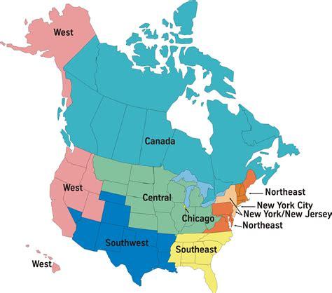 america map regions america regions map