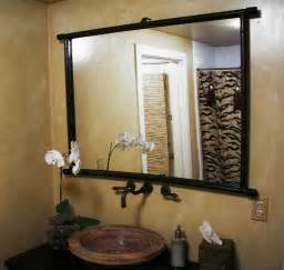 Framed Bathroom Mirrors Ideas wood bathroom mirror ideas big bathroom mirror ideas ideas to frame a