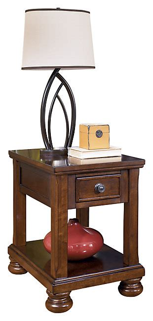 porter chairside end table accent tables ashley furniture homestore