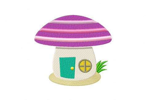 house embroidery design purple mushroom house machine embroidery design daily embroidery