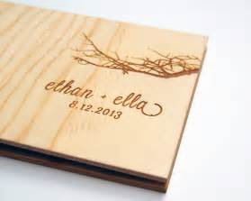 guest book wedding guest book album custom wood engagement by lorgie