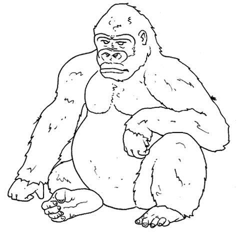 gorilla outline coloring page disegni da colorare per bambini midisegni it