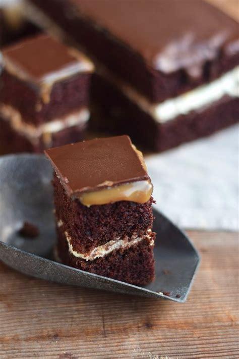 schokocreme kuchen rezept schoko creme karamell kuchen chocolate caramel cake