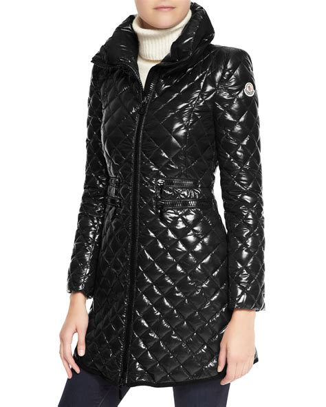 puffer jacket moncler chetre quilted puffer jacket in black lyst