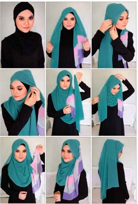 tutorial jilbab syar i menutup dada contoh tutorial hijab modern menutup dada
