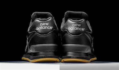 Jual New Balance 574 Black new balance 574 black leather gum sneaker bar detroit