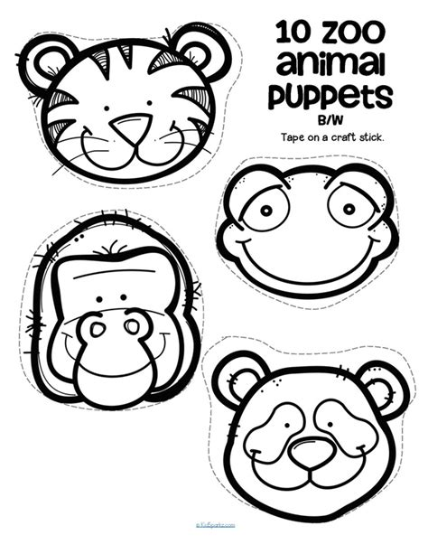 free printable zoo animal cutouts zoo animals theme activities and printables for preschool