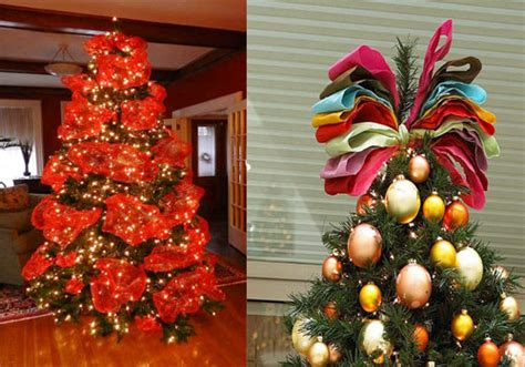 how to decorate with wide ribbon on xmas trees tree decorating ribbon ideas viahouse