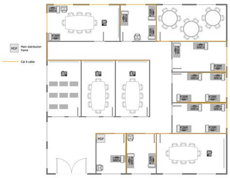 floor plan office layout network layout floor plans solution conceptdraw com