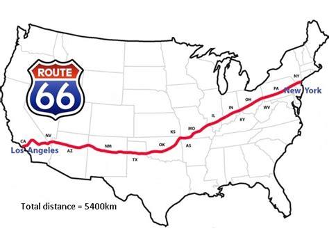 route 66 map usa the run nick runs america