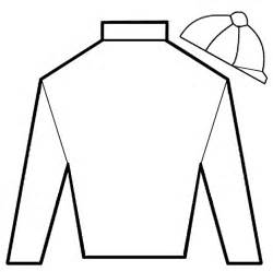 Jockey Silks Coloring Pages blank t shirt template for colouring clipart best