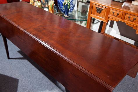 Cherry Wood Dining Tables Cherry Wood Dining Table With Drop Leaf At 1stdibs