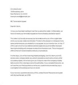 Termination Of Employment Agreement Template Termination Notice 15 Free Samples Examples Format