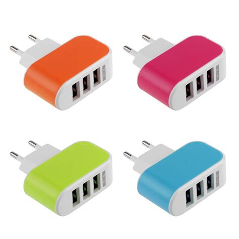 Samsung Travel Adapter Charge Samsung 1a Kepala 2 Indo Oem 3 1a usb port wall home travel ac charger adapter for samsung htc eu ebay