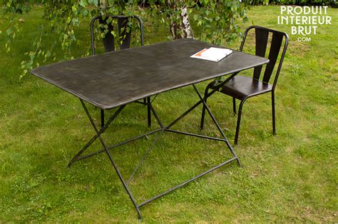 table jardin en table de jardin compi 232 gne table pliante 100 m 233 tal l 233 g 232 rement patin 233 e