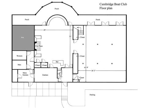 Design A Floorplan Floor Plan Of The Cambridge Boat Club Cambridge Boat Club
