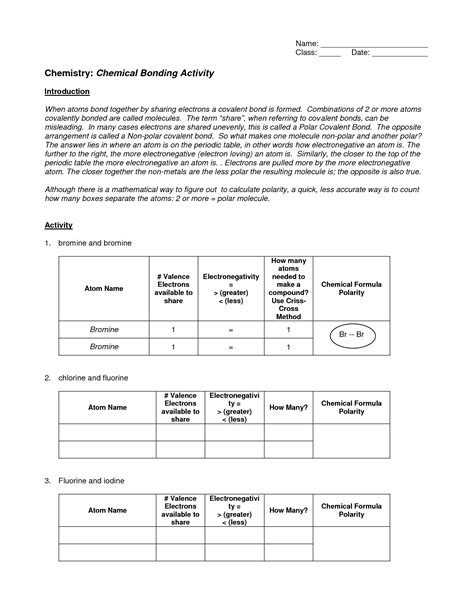 chemical bonding worksheet key 11 best images of bonding basics ionic bonds worksheet