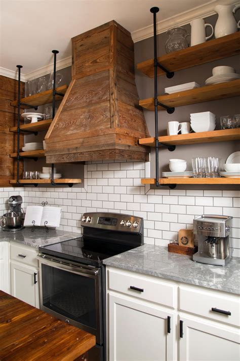 kitchen open shelving photos hgtv