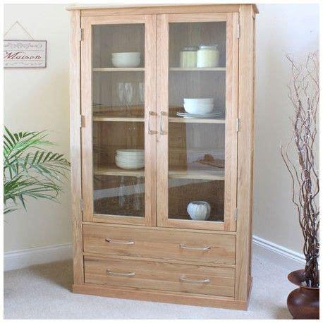 oak large display cabinet    solid oak