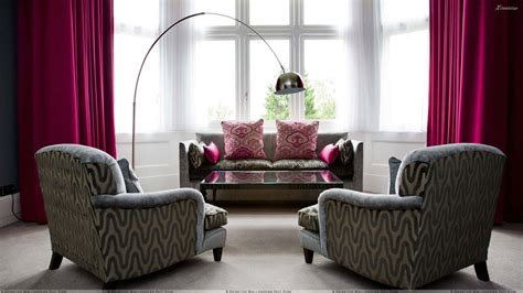 red and grey sofa grey designing sofa set and pink curtains in room wallpaper