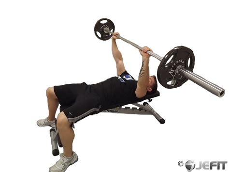 exercises with a bench barbell bench press exercise database jefit best
