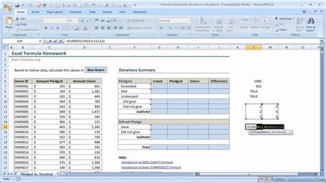 youtube tutorial excel formulas excel array formula tutorial comparing lists of values in