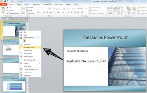 how to duplicate slides in powerpoint 2010