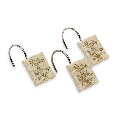 bed bath and beyond greenwood avanti greenwood shower curtain hooks set of 12 bed