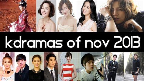 recommended film drama korea top 6 new 2013 korean dramas november top 5 fridays