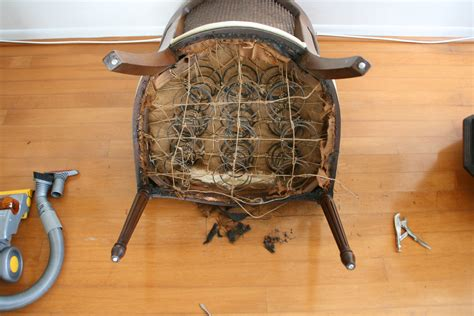 Springs For Chairs by How To Reupholster A Chair Infarrantly Creative