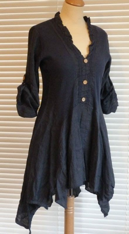 Top Brixtonbest Fashion49 fabulous lagenlook italian linen button through tunic style top rsp 163 49 wundervoll