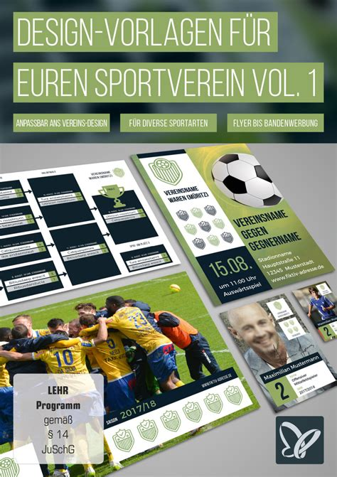 Grafik Design Vorlagen design vorlagen f 252 r euren sportverein