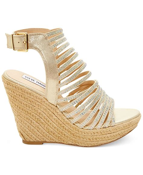 Wedges Gold 1 gold strappy wedge sandals www pixshark images