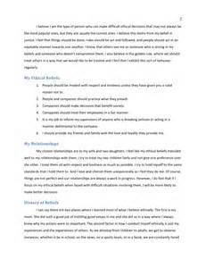 personal code of ethics template personal code of ethics