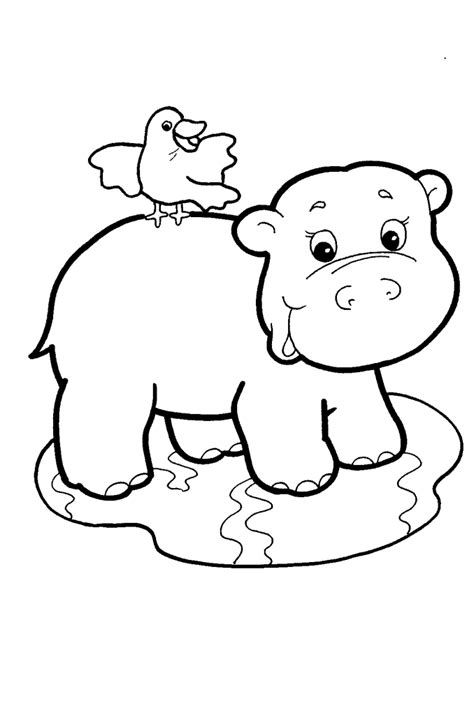 animal babies coloring page baby hippo coloring is cool pinterest animal