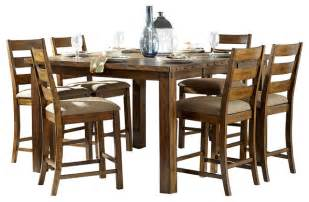 Rustic Bar Height Dining Table Homelegance Ronan Counter Height Table In Burnished Rustic Rustic Dining Tables By Beyond