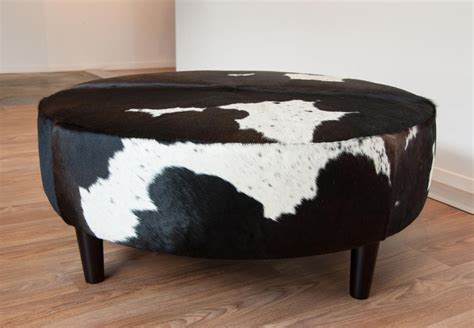 Cowhide Coffee Table Ottoman Coffee Table In Cowhide From Gorgeous Creatures