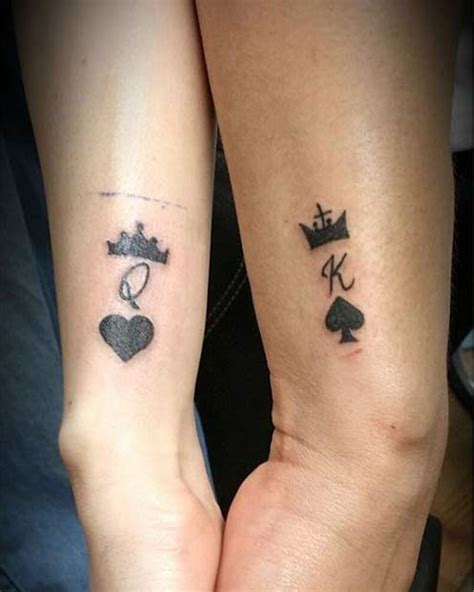 51 King and Queen Tattoos for Couples | Page 3 of 5 | StayGlam K Design Tattoo