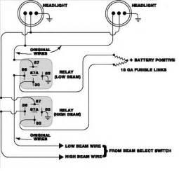 Basic Car Lighting Circuit Headlight Relay Installation