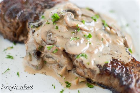 Best Spice Rack Steaks With Bourbon Cream Mushroom Sauce Savory Spicerack