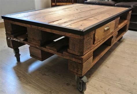 Tables Basses En Palettes by Pellmell Cr 233 Ations La Table Basse En Palettes D Anthony